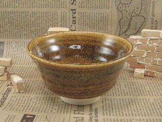 陶器ご飯茶碗(やや大)薄めのそば釉 【200102】の画像