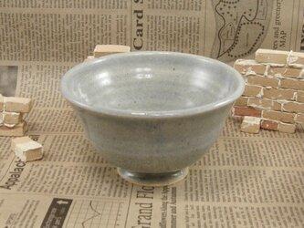 陶器ご飯茶碗(やや大)うすブルー 【200103】の画像