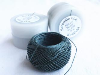 (1個) チェコのリネン糸 ダークグレーの画像