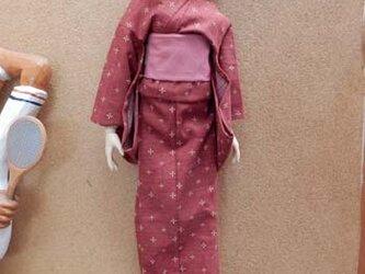 DD(M)タイプ用 絣柄の着物と作り帯の画像