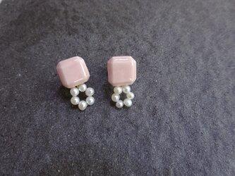 circle パール pierce/earring(ピンク)の画像