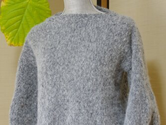 ふんわり可愛いパフスリーブのセーター パフスリーブ セーターの画像