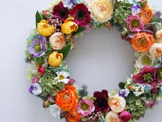 Wreath ~Spring has come~ 39cmの画像