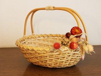 籐編みバスケット・かごの画像