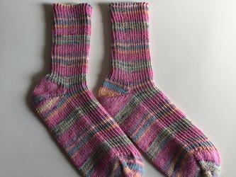 手編み靴下【コットンストレッチ パルマ03】の画像