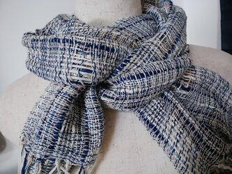 手織り・爽やかストールの画像