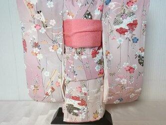 市松人形の着物15号サイズビンク系 100の画像