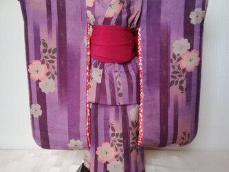 ♪市松人形の着物18号サイズ 薄紫系 101の画像