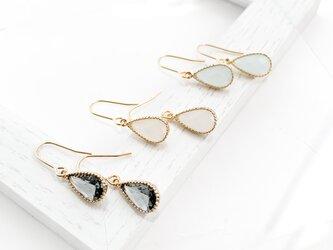 Cut Frame Glass Pierces/earrings n011の画像