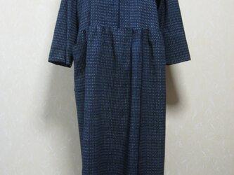 木綿絣の着物からワンピース。の画像