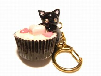 にゃんこのしっぽ○カップチョコにゃんこ○キーホルダー○猫○黒猫1の画像