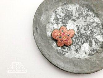 刺繍ブローチ「つぶつぶお花」の画像