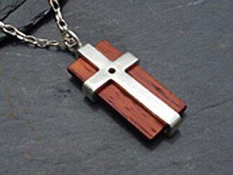 niw・シルバーネックレス クロスの画像
