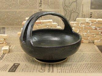 陶器手鉢(小)黒マット調 【200108】の画像