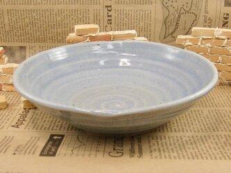陶器うずまき中鉢 青灰釉 【200109】の画像