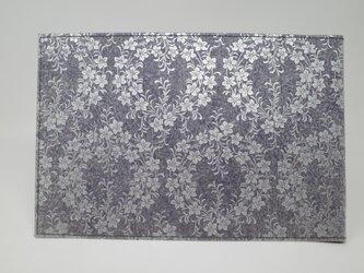 ギルディング和紙ブックカバー 桔梗 紫地 銀箔の画像