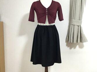 着物リメイクのスカート 黒の画像