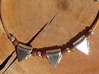 niw・シルバーネックレス リーフ(3枚葉)の画像