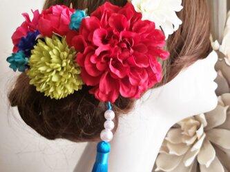 Cuteな小花と真っ赤なダリアのはいから9点Set No718の画像
