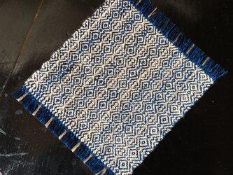 手織りの草木染めコースター ②生葉の画像