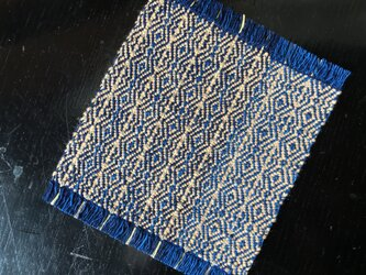 手織りの草木染めコースター ④薄茶の画像
