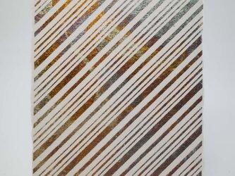 ギルディング和紙葉書 ストライプ 黄混合箔の画像