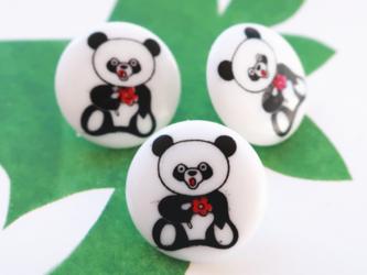 (3個) パンダのボタン ドイツ製の画像