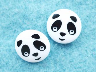 (2個) パンダのボタン  ドイツ製の画像