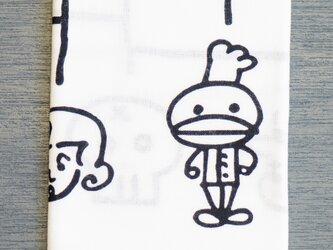注染てぬぐい・もへじ × komefuku(コメフク)コラボの画像