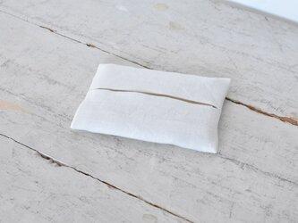 大人のリネンのポケットティッシュカバー《ホワイト》の画像