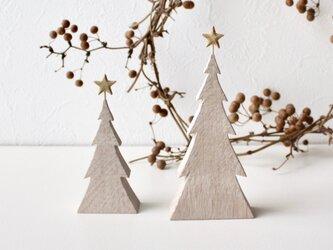 小さな木のクリスマスツリー*ホワイトオーク*Mサイズの画像