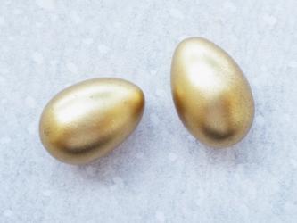 (1個) 金の卵ボタン ドイツ製の画像