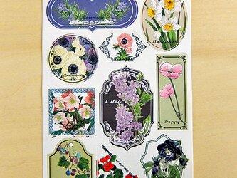 シール 花Cの画像