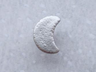 (3個) 銀色の月のボタン フランス製の画像