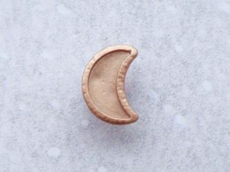 (3個) 金色の月のボタン フランス製の画像