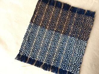 手織りの草木染めコースター ⑥の画像