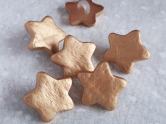 (3個) 金色の星のボタン15mm フランス製の画像