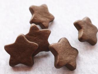 (3個) 金古美色の星のボタン15mm フランス製の画像