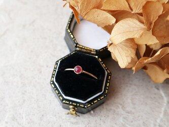 【K10】宝石質ルビーの一粒リングの画像