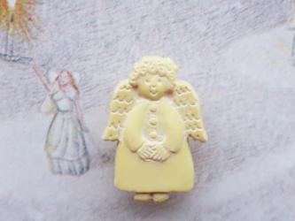 (3個) 天使のボタン 18mm フランス直輸入の画像