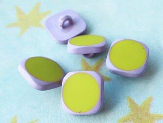 (3個) ピスタチオ色のボタン フランス製の画像