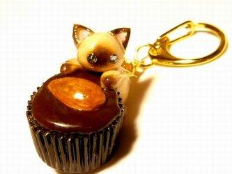 にゃんこのしっぽ○カップチョコにゃんこ○キーホルダー○猫○シャム猫1の画像