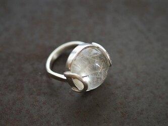 針水晶 ドーム型リング 1の画像