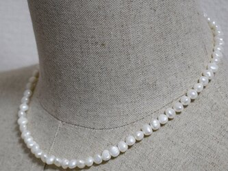 バロック淡水パール ネックレス ロング ショート 本真珠 小粒 アジャスター 結婚式の画像