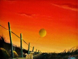 風船が、飛んで行った。の画像