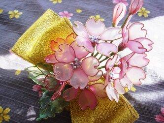 河津桜(クリップ付コサージュ)の画像