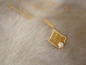 あこやパールダイヤシェイプネックレスの画像
