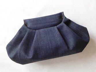 【受注制作】Indigo Denim Clutch Bagの画像