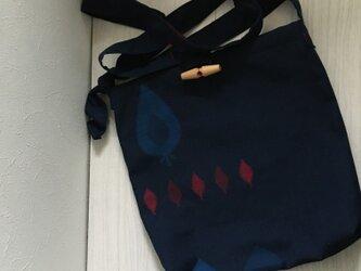 着物リメイクショルダーバッグ(ネイビー)の画像