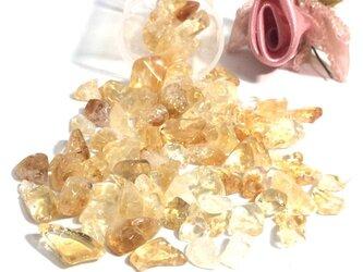 【さざれ石穴なし】~金運の黄結晶~ シトリン 中~大粒 サザレ石 20gの画像